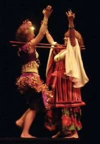 Photo of Chelydra and Aegela in a ghawazee duet.